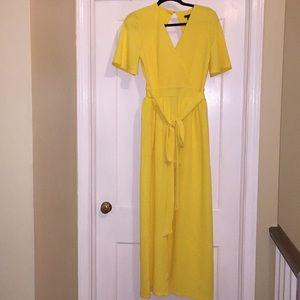 Vibrant Yellow Maxi Skort Dress!